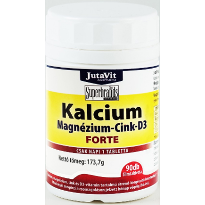 Kálcium, Magnézium, Cink + D3 vitamin tabletta