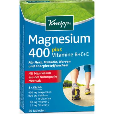 Magnézium 400 + Vitamin:B,C,E