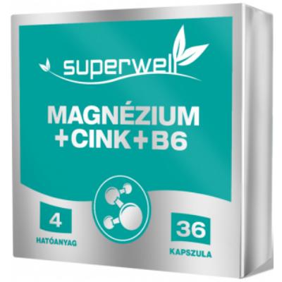 Magnézium+Cink+B6-vitamin  kapszula