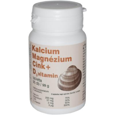 Kálcium, Magnézium, Cink + D3 vitamin K2 vitaminnal tabletta