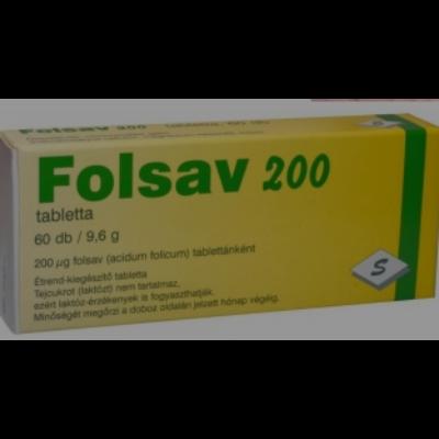 Folsav 200 tabletta, 60 db