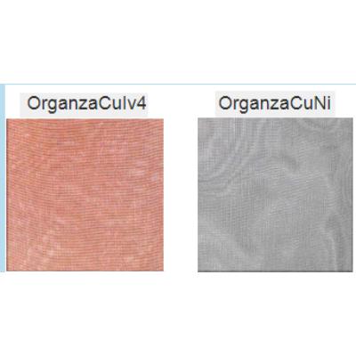 Rézszövet - Fémezett szövet, organza