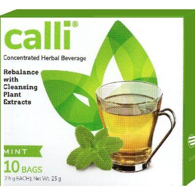 Méregtelenítő-Calli tea-akupunktúra tűk nélkül - mentás, 10 db/doboz