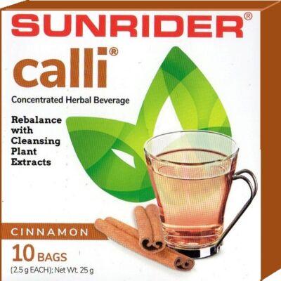 Méregtelenítő-Calli tea-akupunktúra tűk nélkül - fahéjas, 10 db/doboz